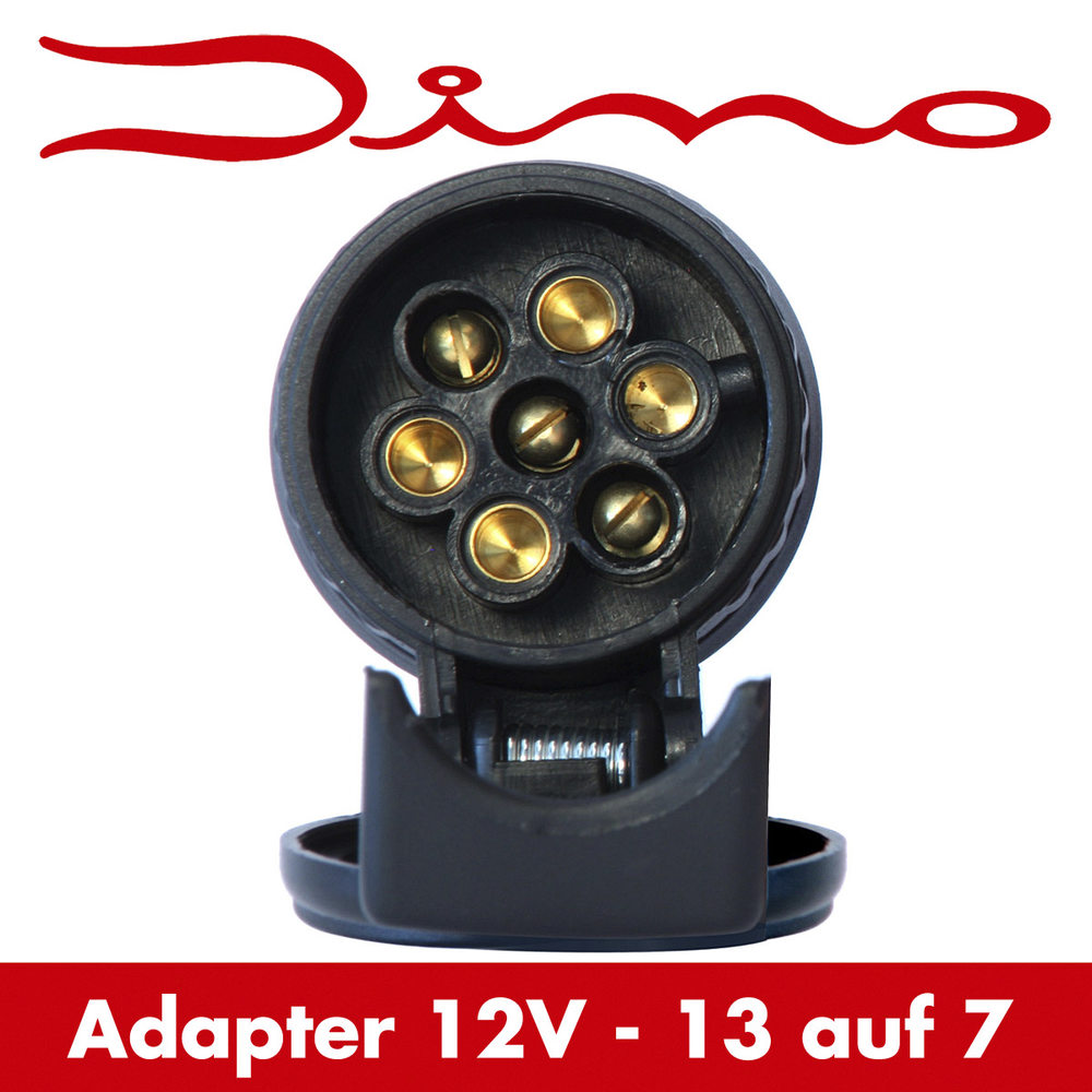 dino anh nger kurz adapter stecker kurzadapter 13 auf 7 polig steckdose ebay. Black Bedroom Furniture Sets. Home Design Ideas